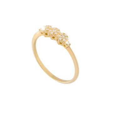 Anello Princess Riviera in oro 18kt e diamanti