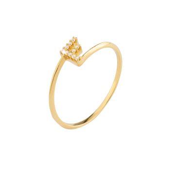 Anello Name Lux in oro 18kt e diamanti