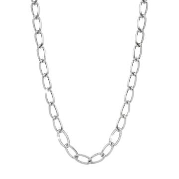 Collana lunga in argento con pietre