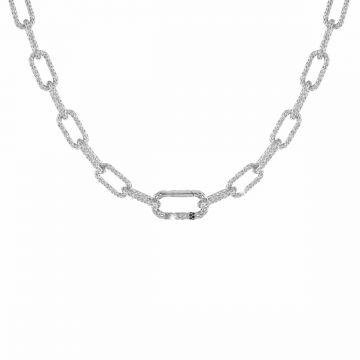 Collana Jolie a catena maglia media in argento a lavorazione traforata
