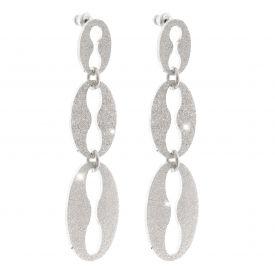Orecchini Amalfi a tre maglie marine diamantati
